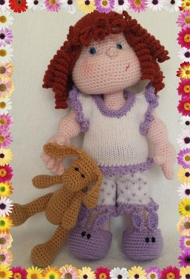 Matilda Dolly - Pattern for wig, pyjamas and bunny at Makerist - Image 1