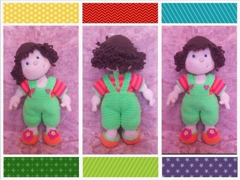Matilda Dolly - Basic doll with CROCHETED clothes
