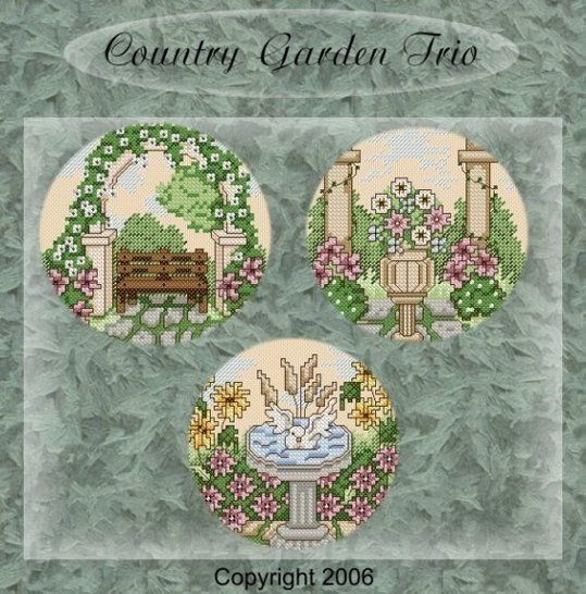 Country Gardens in cross stitch at Makerist - Image 1