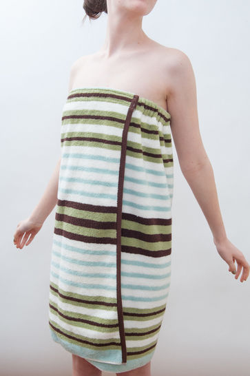 Spa Towel Wrap - Bath & Beach Cover up - PDF Sewing Pattern at Makerist - Image 1