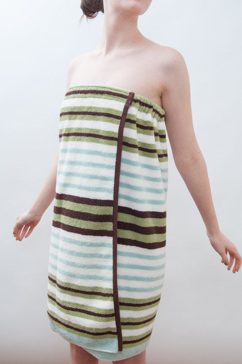 Spa Towel Wrap - Bath & Beach Cover up - PDF Sewing Pattern