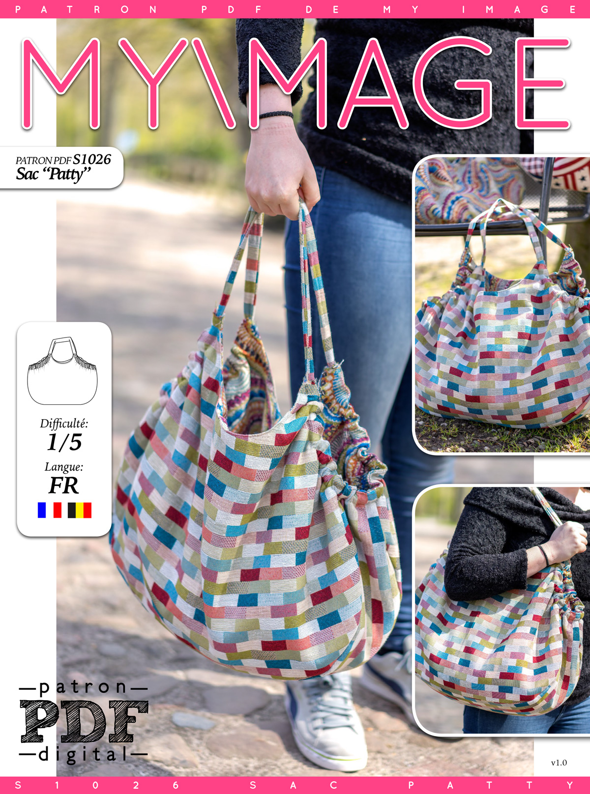 Sac PATTY Patron de Couture + Tutoriel