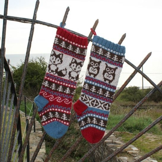 Christmas Stocking - Fair Isle Owl and Fox at Makerist - Image 1