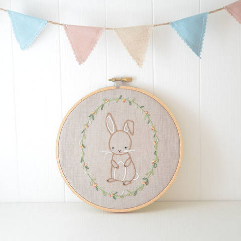 Little Bunny, hand embroidery PDF pattern & instructions at Makerist