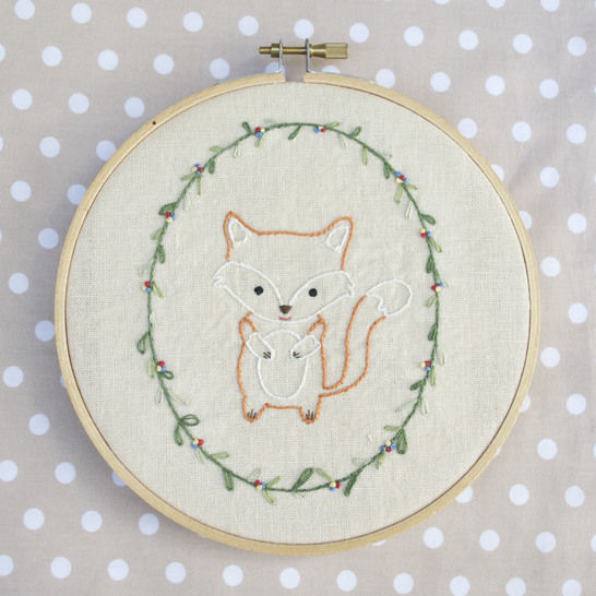Little Fox, hand embroidery PDF pattern & instructions at Makerist - Image 1