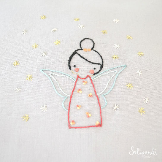 Little Fairy, hand embroidery PDF pattern & instructions at Makerist - Image 1