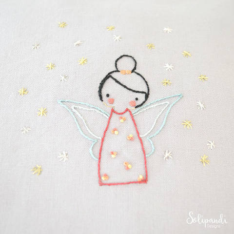 Little Fairy, hand embroidery PDF pattern & instructions