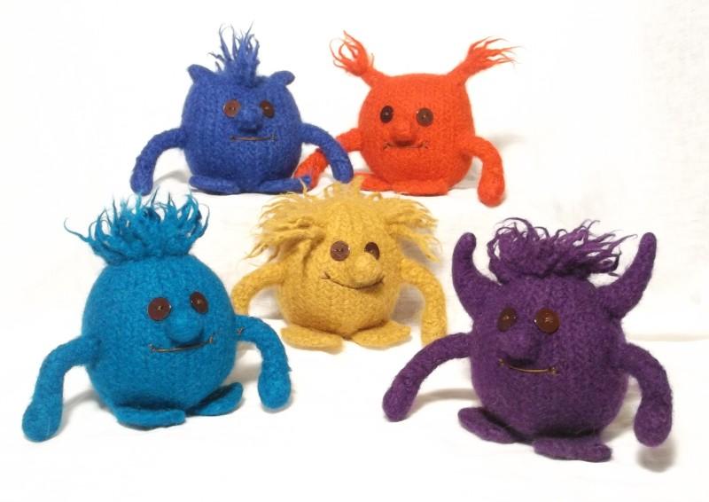 Monster Gang Knitting Pattern