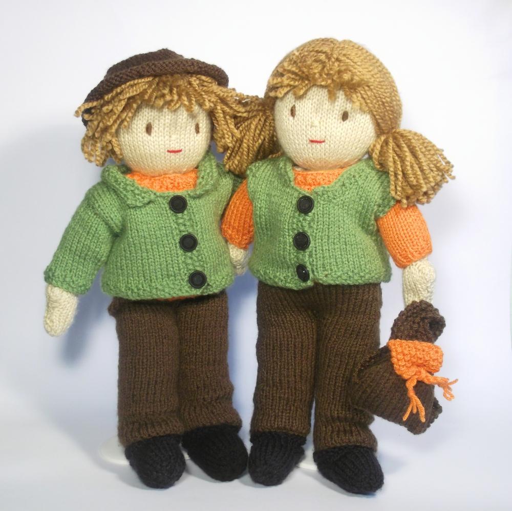 Jesse and Josie Dolls -Go Exploring- Knitting Pattern