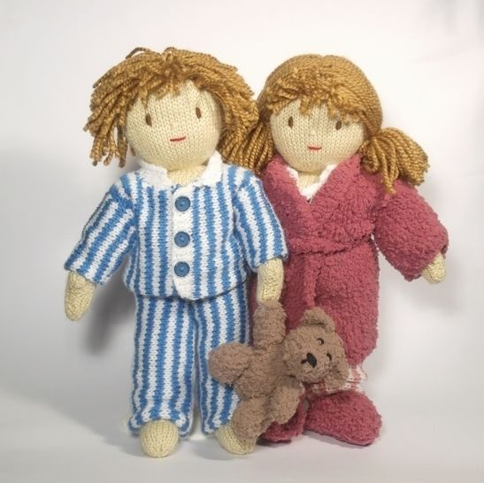 Time for Bed- Jesse and Josie Dolls - Knitting Pattern at Makerist - Image 1