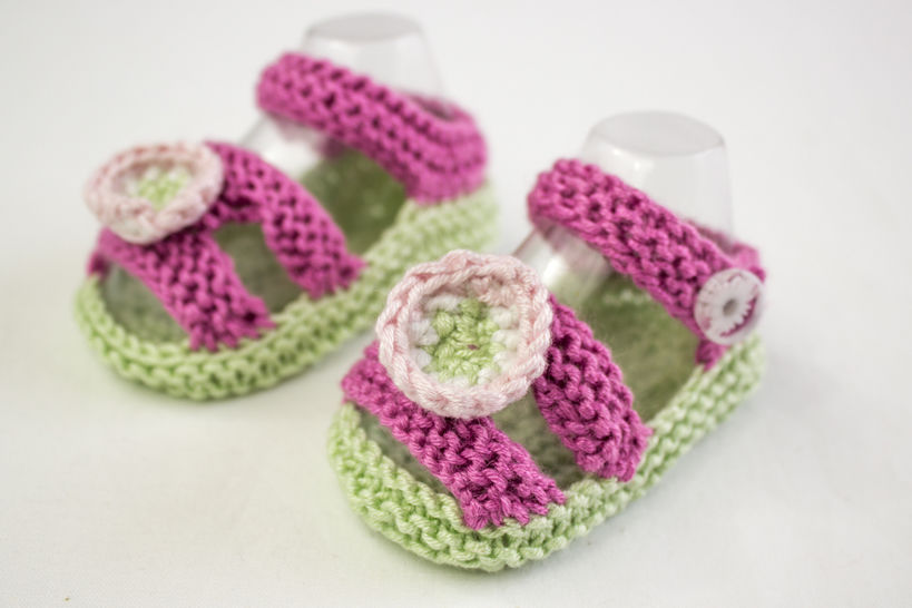 baby Girl Sandal Pattern, Knitting Pattern at Makerist - Image 1
