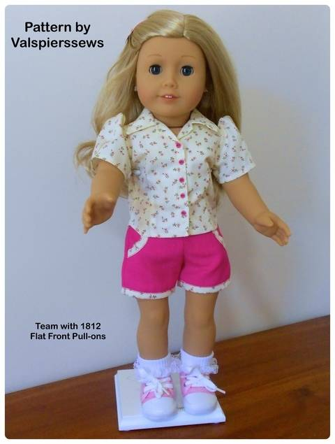 """1806 Valspierssews Doll Clothes Pattern for 18"""" Dolls"""