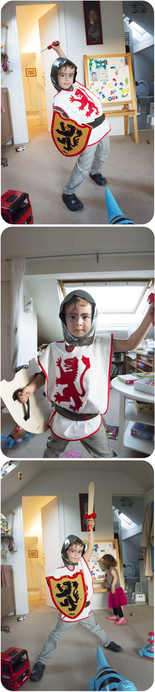 Tunique chevalier - 4 ans - tuto couture