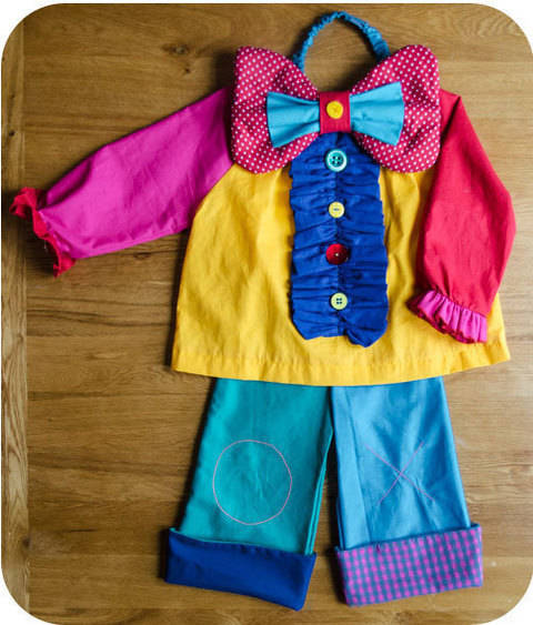 Pantalon de petit clown - tuto couture