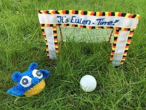 gehäkelte Fußballeule Ukraine| It's Eulen-Time