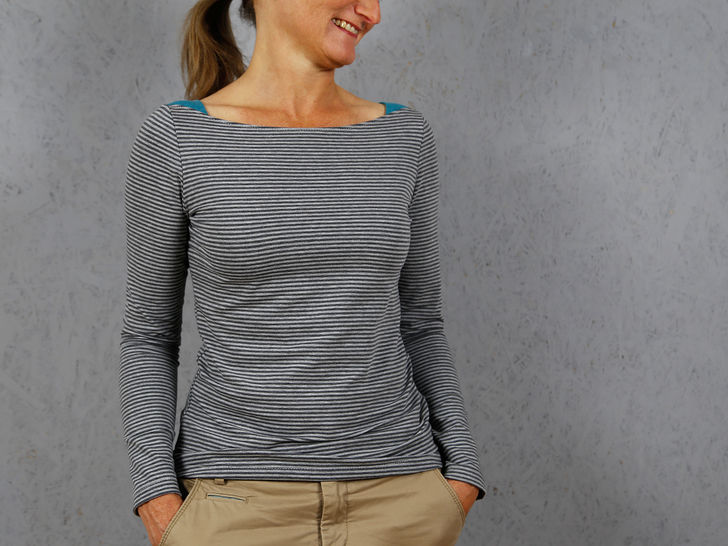 MissMarlene  - Basic shirt with shoulder inserts at Makerist - Image 1