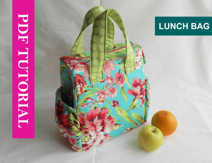 Insulated Lunch Tote Pattern with pattern pieces to print (UPDATED) at Makerist - Image 1