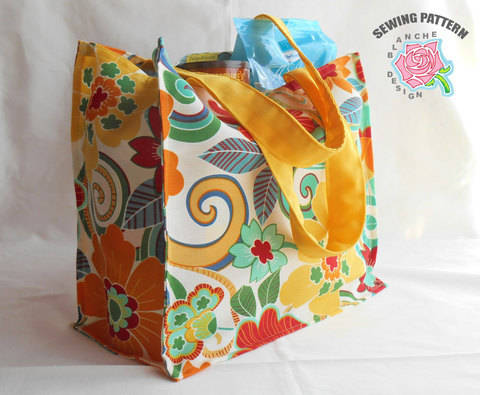 Reusable Grocery Shopping Bag Pattern with or without a lining at Makerist