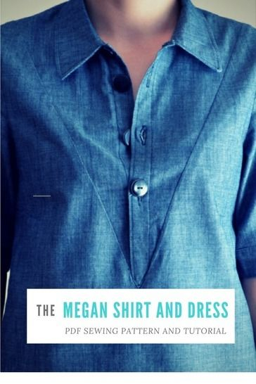 Megan Shirt:  PDF sewing pattern for women, sizes available from 4 to 22 at Makerist - Image 1