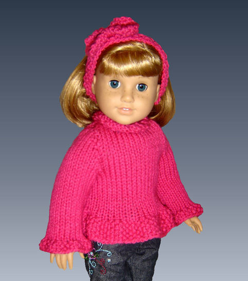 "Ruffled Edge Sweater for 18"" Doll at Makerist - Image 1"