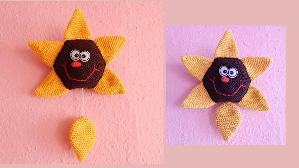 Häkelanleitung Spieluhr Sonnenblume bei Makerist - Bild 1