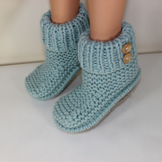 2 Button Super Chunky Slipper Boots at Makerist - Image 1