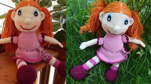 Häkelanleitung Puppe Klementine
