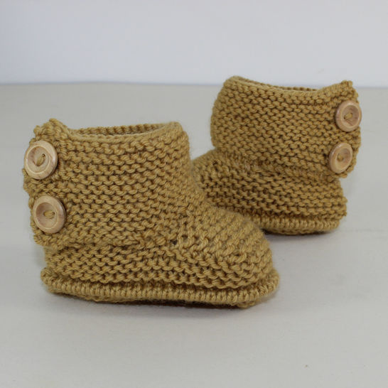 Baby Simple Button Up Booties at Makerist - Image 1