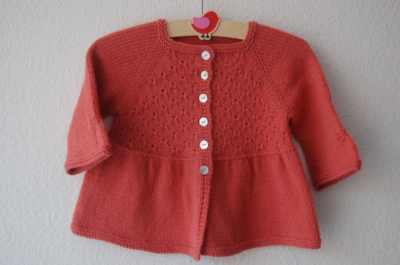 Alouette girl lace cardigan - knitting pattern at Makerist - Image 1