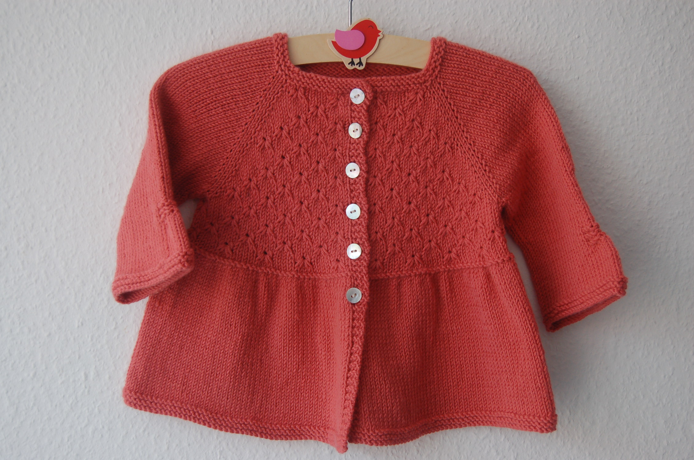 Alouette girl lace cardigan - knitting pattern