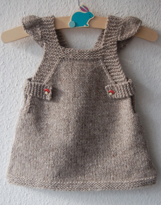 Summer Into Fall pinafore dress - knitting pattern