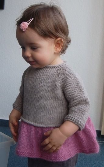 Tutu Top - baby and girl knitting pattern at Makerist - Image 1