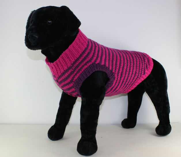 Chunky Stripe Dog Coat at Makerist - Image 1