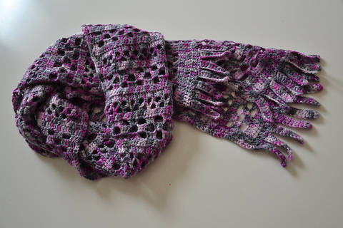 Orchid Jam Scarf at Makerist