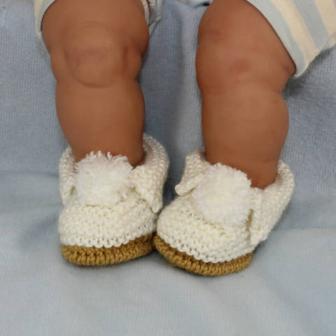 Baby Simple Bobble Slippers
