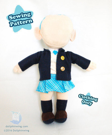 Little Doll Clothing Pattern School Uniform at Makerist - Image 1
