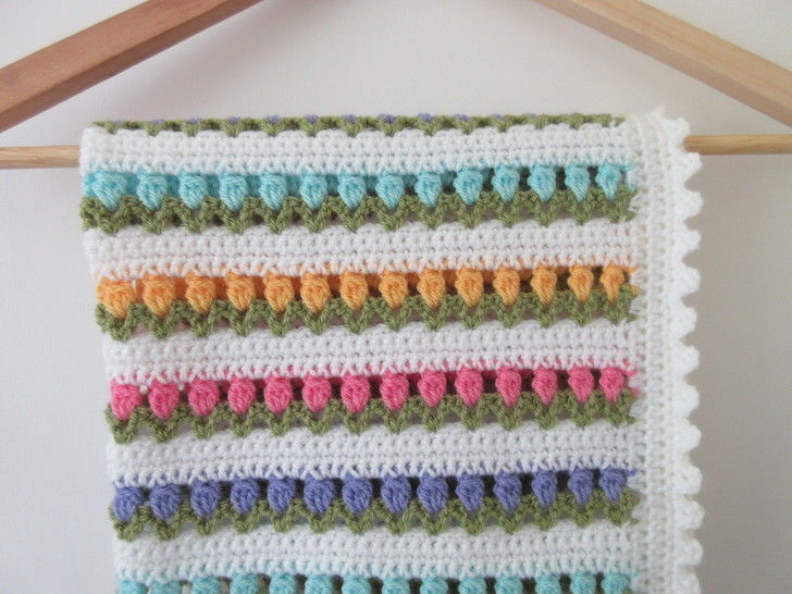 Tulip Baby Blanket Crochet Pattern at Makerist - Image 1