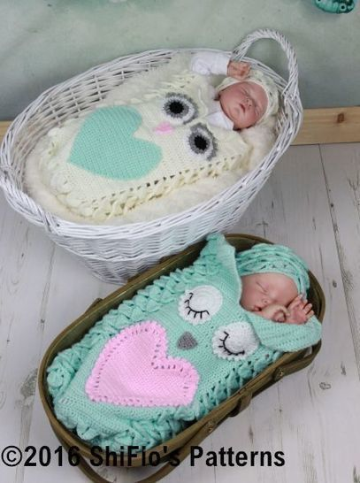 CP341 Croc St Owl Cocoon Baby Crochet Pattern #341 at Makerist - Image 1