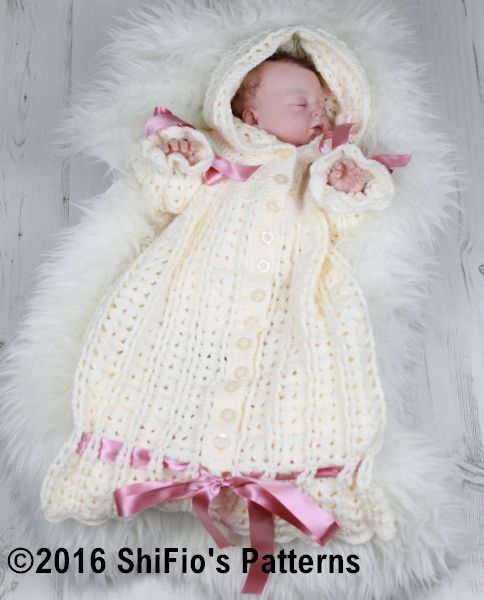 CP41 Snuggly Sleeping bag Baby Crochet Pattern #41