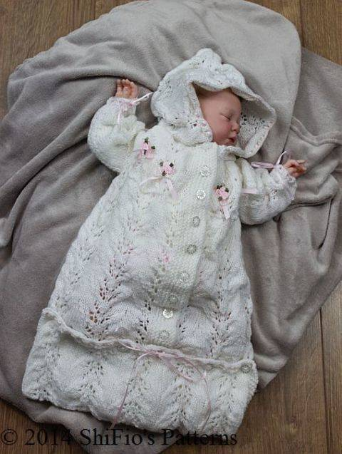 KP151 Sleeping Bag Baby Knitting Pattern #151