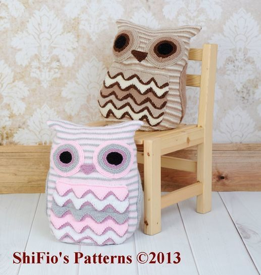 KP239 Owl Cushion Knitting Pattern #239 at Makerist - Image 1