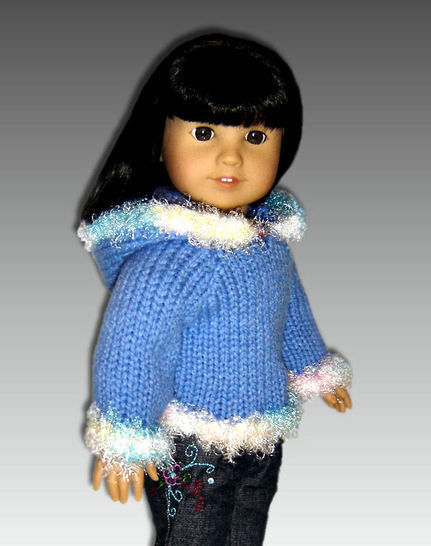 """Fun Fur Hoodie for 18"""" Doll at Makerist - Image 1"""