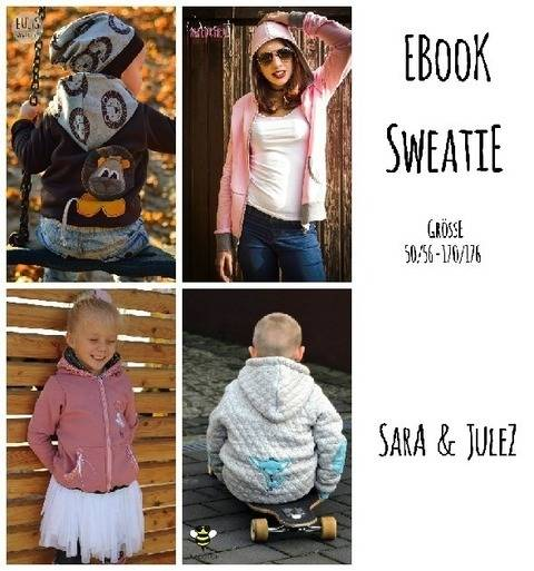 Ebook Sweatjacke Sweatie Gr. 50/56 bis 170/176