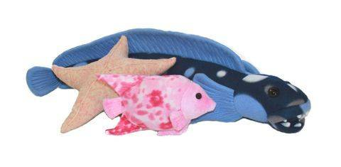 Fishy Friends Soft Toy Sewing Pattern - Includes Starfish, Angelfish & Big Fish  at Makerist