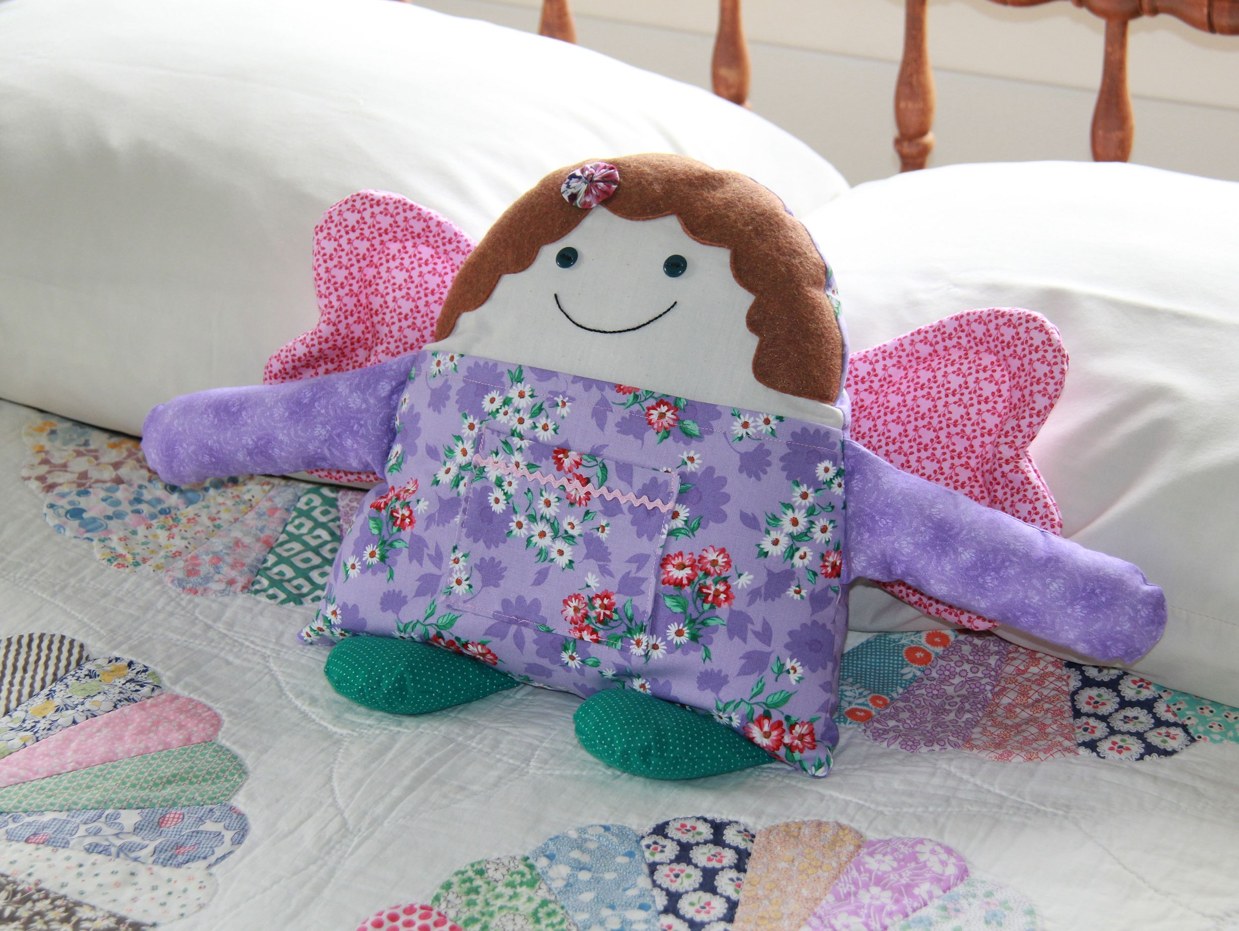 Angel Buddies Pocket Pillow Sewing Pattern, Girl & Boy