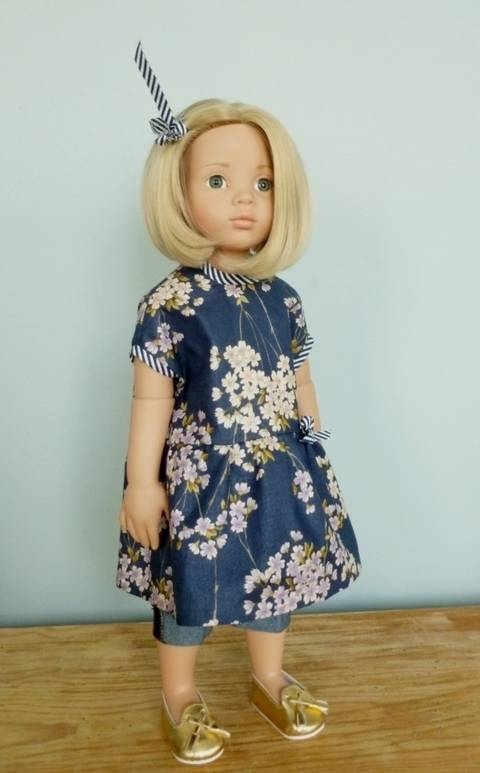 Asumi, doll clothes pattern, 2 pieces, for 18 inch doll, Götz, american girl at Makerist