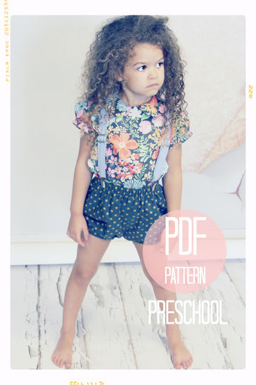 Bloomer Bubble Shorts Sewing Pattern - Preschool (sizes 4T, 5, 6) at Makerist - Image 1