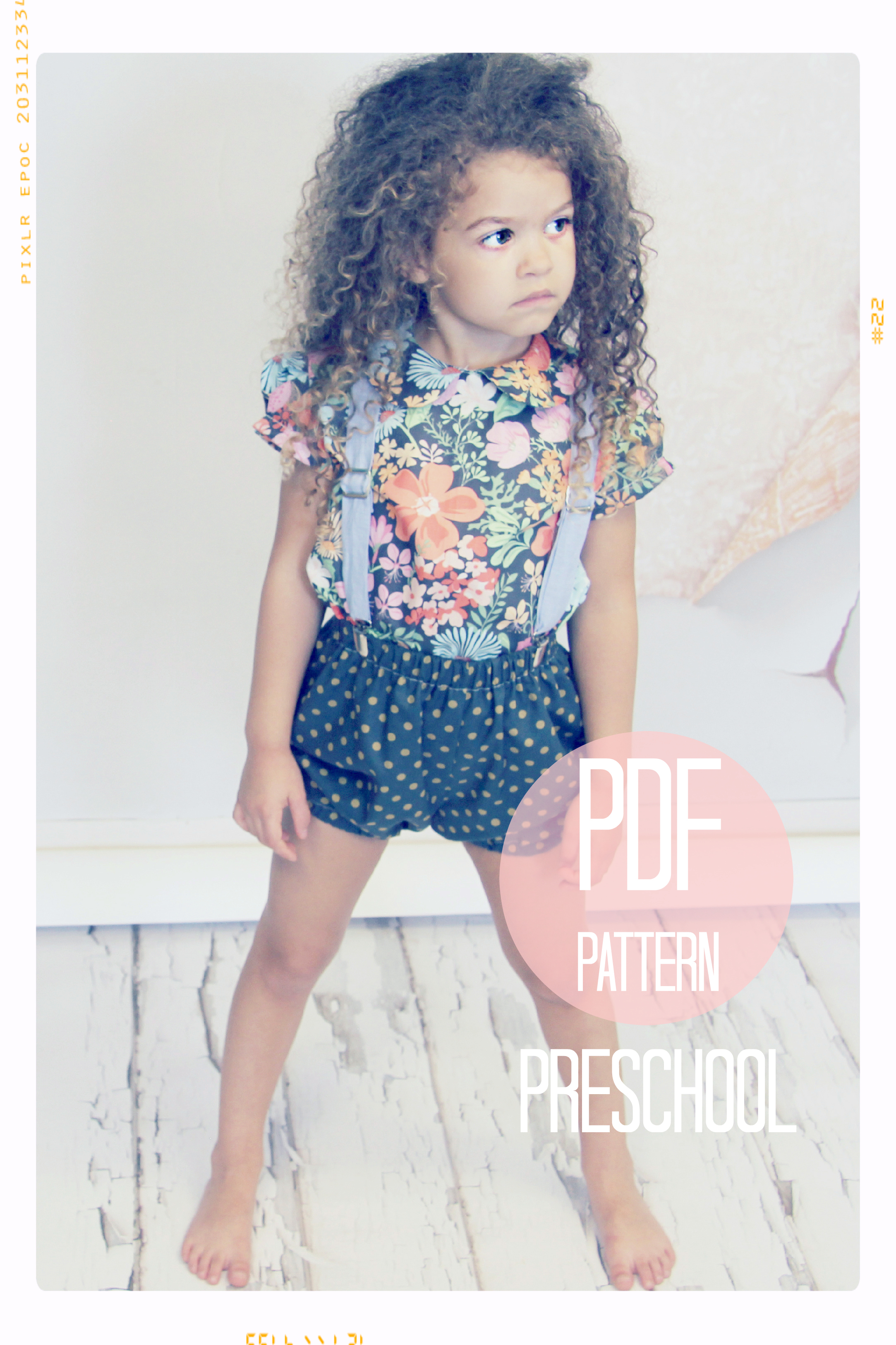 Bloomer Bubble Shorts Sewing Pattern - Preschool (sizes 4T, 5, 6)