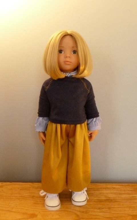 Scoolgirl, Doll clothes pattern for 18 inch doll fits American girl, Bonnie and Pearl, We Girl, Götz, Maru and Friends at Makerist