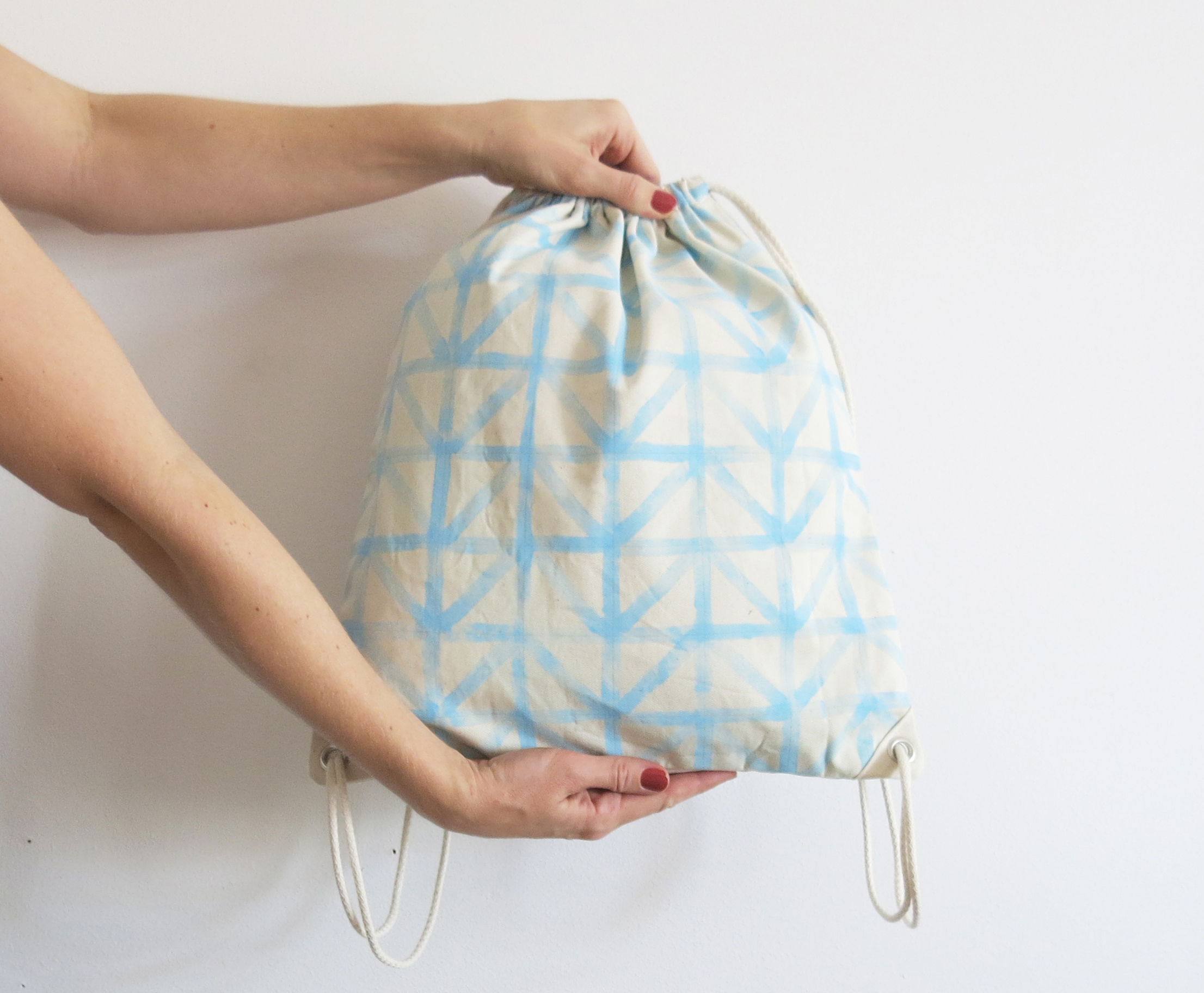 Simple drawstring backpack